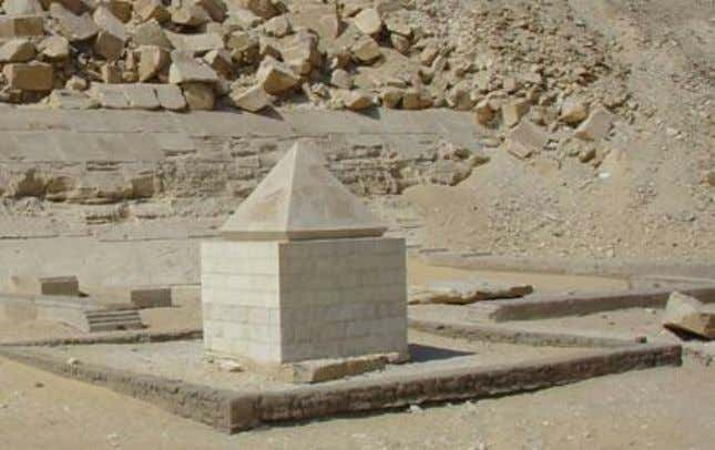 Figure 16: The restored pyramidon (Capstone) belonging to the Red Pyramid of Pharaoh Snoferu, at
