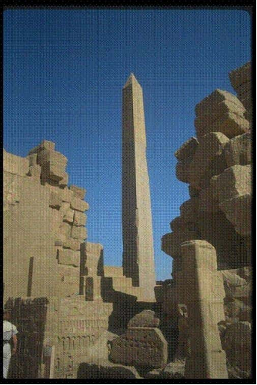 Figure 3: Above: Obelisk at Karnak Temple (Egypt) While the Ancient Egyptian Obelisk is a