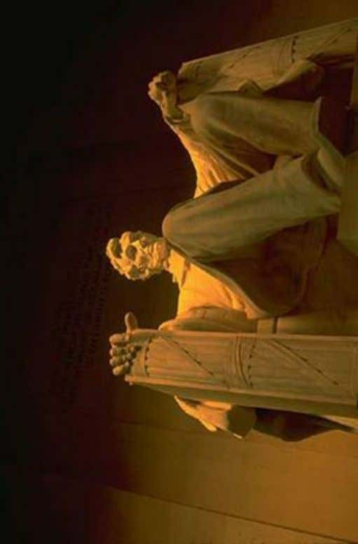 Figure 5: Below: Lincoln Memorial, using Ancient Kamitan (Egyptian) architecture for the posture of Lincoln.