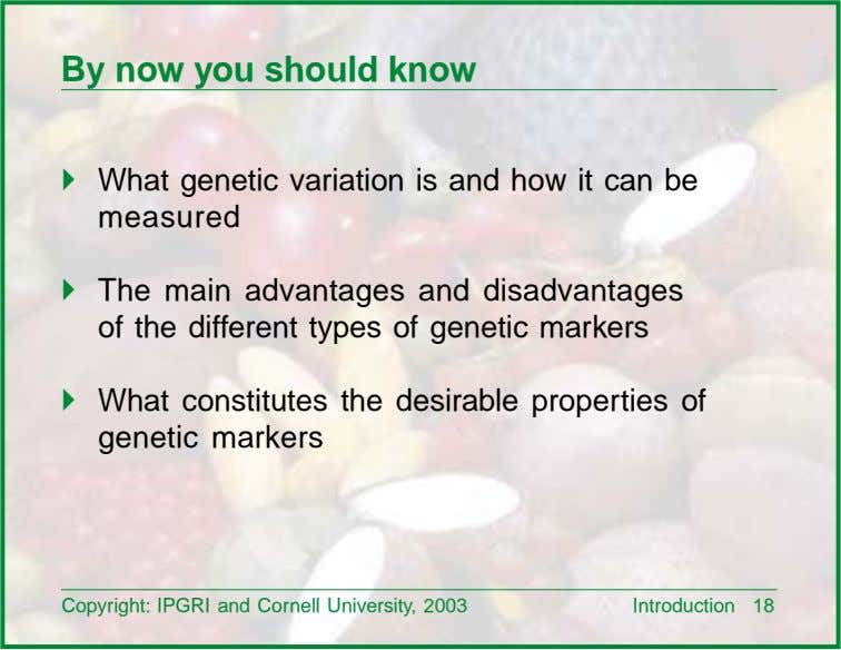 By now you should know ! What genetic variation is and how it can be