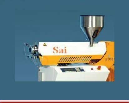 Extruder The Sai Extrumech Pvt. Ltd. single screw extruder is a product of 10 years of
