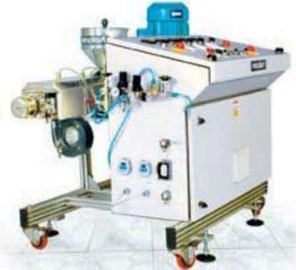 Lab Extruder The space saving Mobile Extruders usually operators in conjunction with the fixed horizontal extruder.