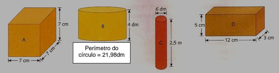Perímetro do círculo = 21,98dm