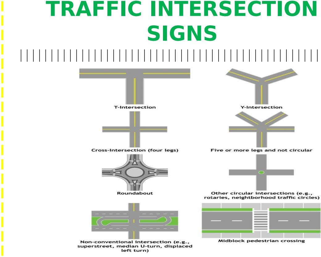 TRAFFIC INTERSECTION SIGNS