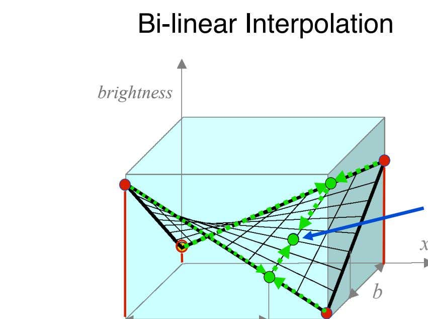 Bi-linear Interpolation brightness