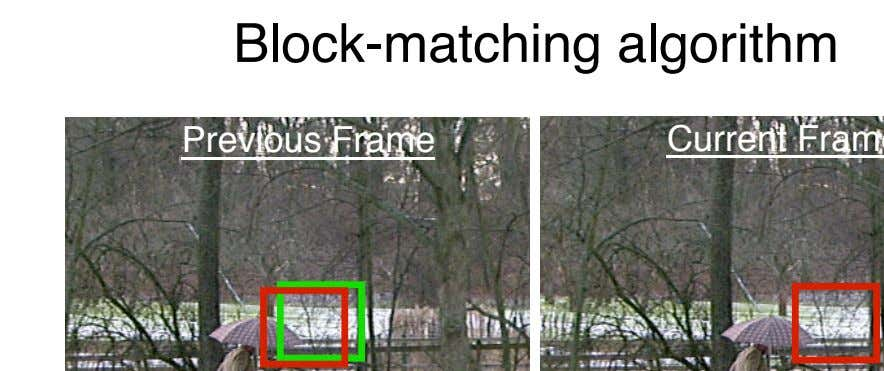 Block-matching algorithm Previous Frame