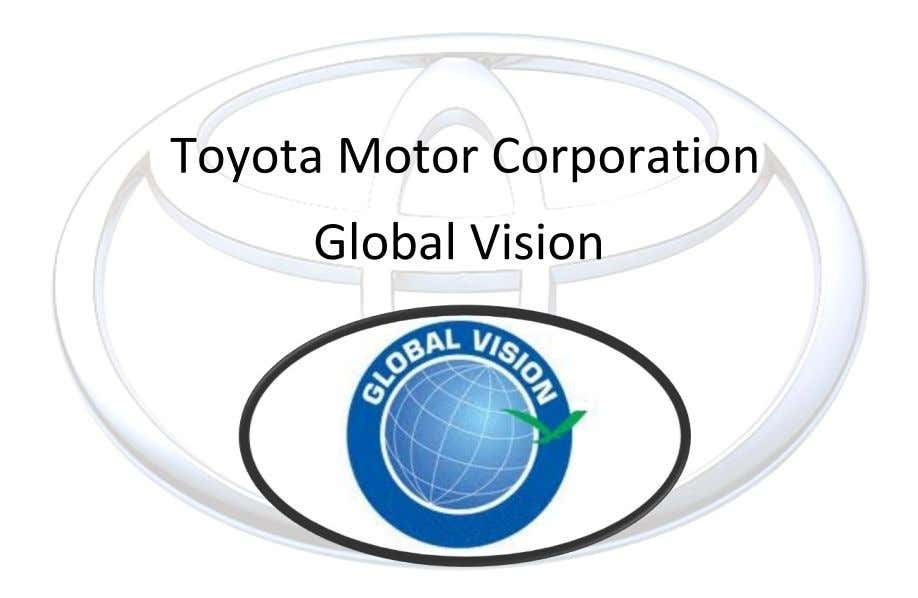 Toyota Motor Corporation Global Vision