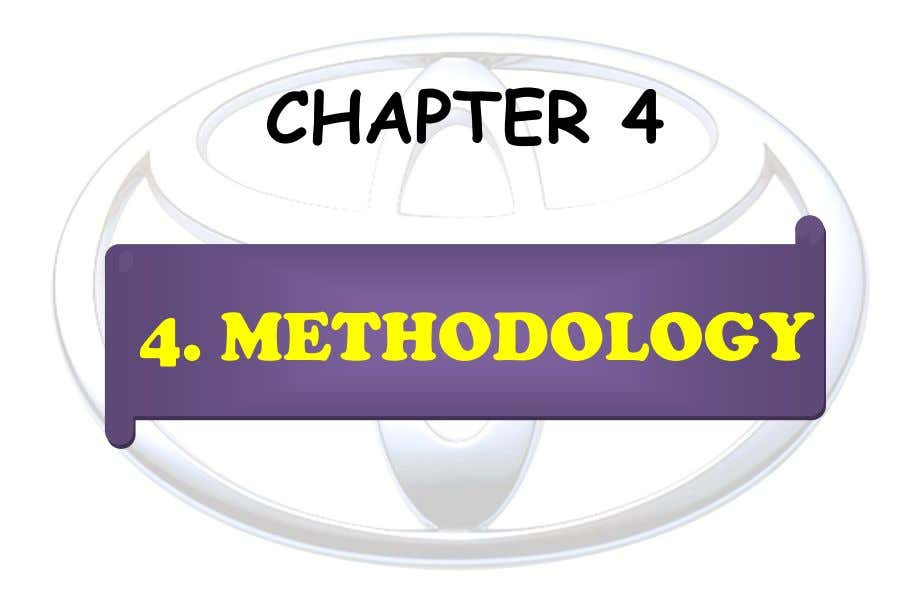 CHAPTER 4 4. METHODOLOGY