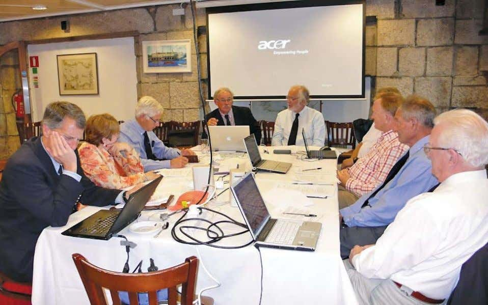 Members of the WSSRC hard at work during the 2012 General Meeting at the Royal