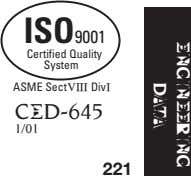 ENGINEERING DATA ISO9001 Certified Quality System ASME SectVIII DivI CED-645 1/01 221