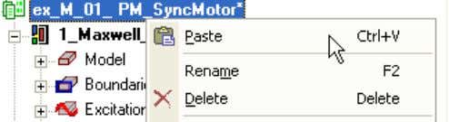 copy Right mouse click on the Project name and select paste Rename the copied design name