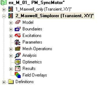 paste Rename the copied design name in 2_Maxwell_Simplorer Go to the Maxwell menu item Maxwell 2D