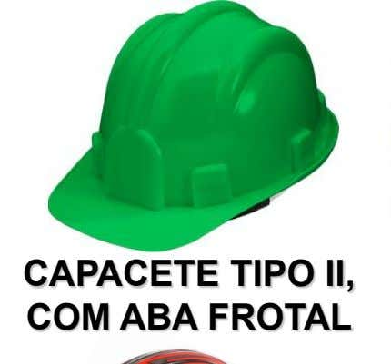 CAPACETE TIPO II, COM ABA FROTAL