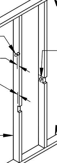 top plate drilled holes shall not be located in the same cross- seciton of a