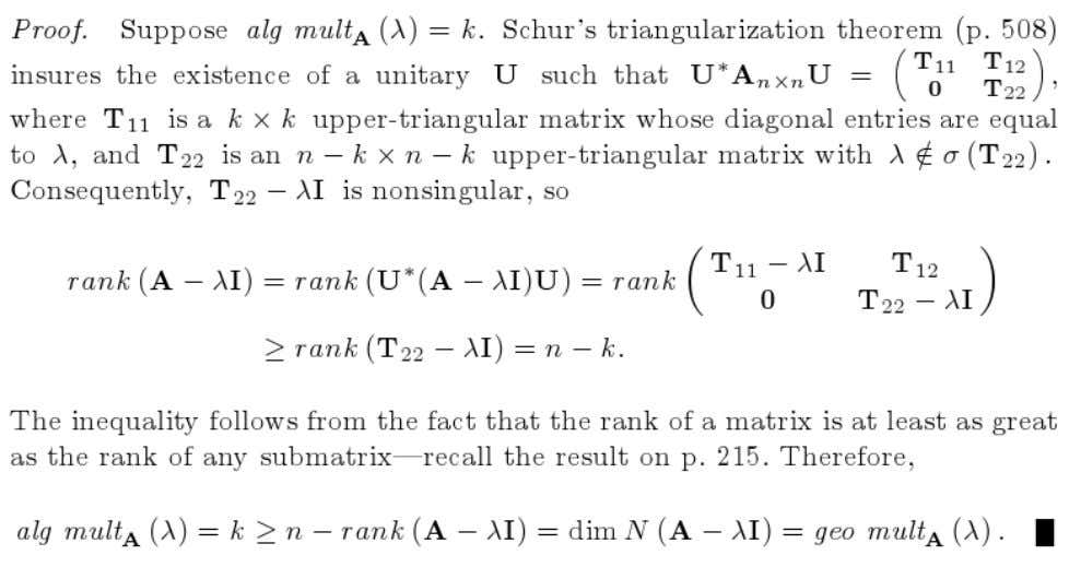 Determining whether or not An×n is diagonalizable is equivalent to determining whether or not A