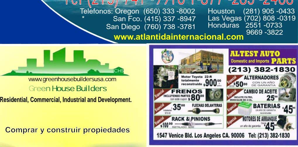 www.greenhousebuildersusa.com Green House Builders Residential, Commercial, Industrial and Development. Comprar y