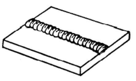 Figure 3-12. — Simple weld bead. Groove welds are simply welds made in the groove