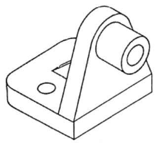 prepare orthographic drawings to describe the object fully. Figure 3-41. — Pictorial drawing of a steel