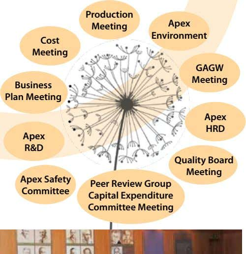 Production Apex meeting environment Cost meeting GAGW meeting business Plan meeting Apex HRd Apex R&d