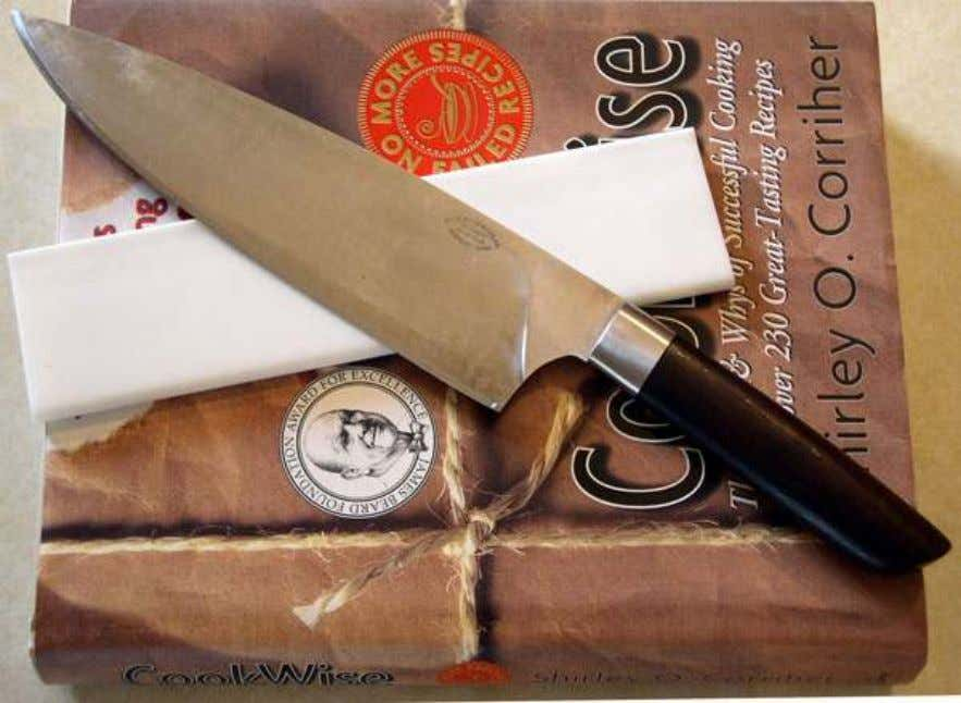 "A very thin, high performance 10/15 double bevel. The knife is an 8"" custom chef's knife"
