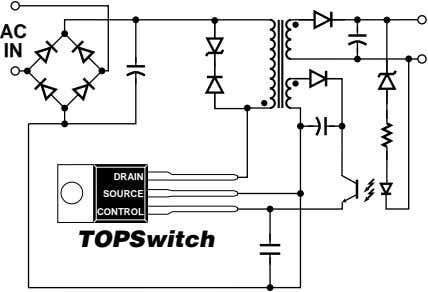AC IN DRAIN SOURCE CONTROL TOPSwitch