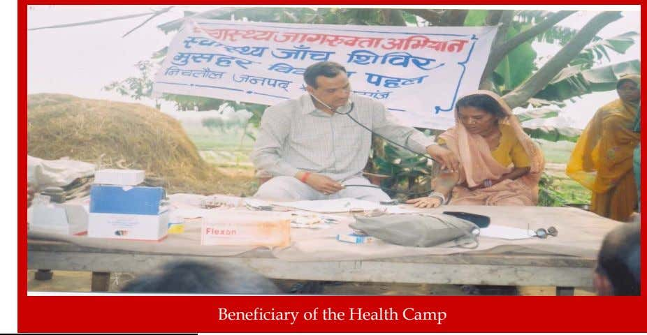 Beneficiary of the Health Camp