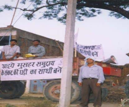Tractor Yatra For conscientisation of Non Musahaar Community