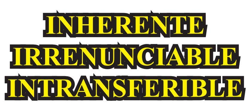 INHERENTE IRRENUNCIABLE INTRANSFERIBLE