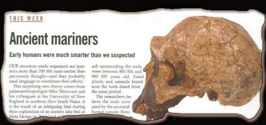 "L'INGANNO DELL'EVOLUZIONE MARINAI DI 700 MILA ANNI ""Early humans were much smarter than we suspected quanto"