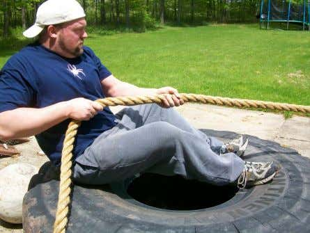 be done with just one hand or with two. 10. Rope Pulling Rope Pulling is a