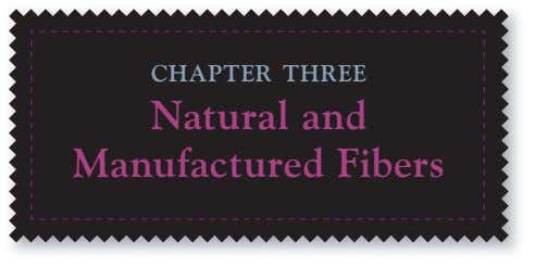 CHAPTER THREE Natural and Manufactured Fibers