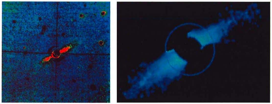 Figure 1: Optical images of the disk around f3 Pictoris: (a) the outer part from