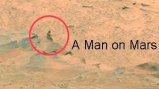 "29 • The Mars probe "" Opportunity "" captured a humanoid in one of its high-res"