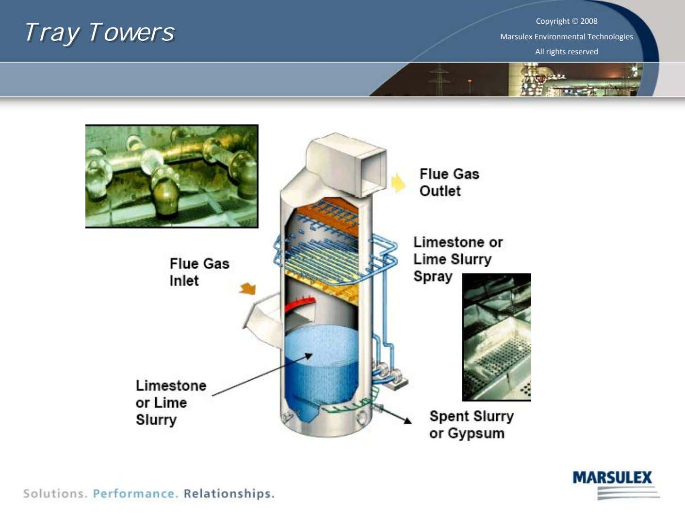 Tray Tray Towers Towers Copyright © 2008 Marsulex Environmental Technologies All rights reserved 29