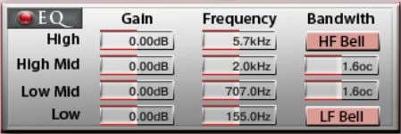 DSP-Effects Solid G Equalizer, Filter Solid G Equalizer Der Solid G EQ ist ein 4-bändiger parametischer