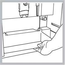 To attach the shims to the cabinet proceed as follows: • remove the drip tray from