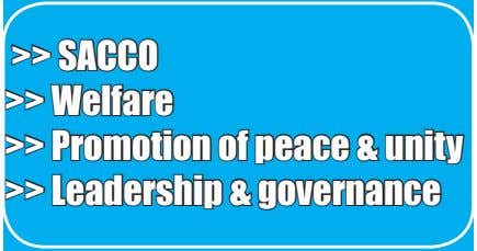 >> SACCO >> Welfare >> Promotion of peace & unity >> Leadership & governance
