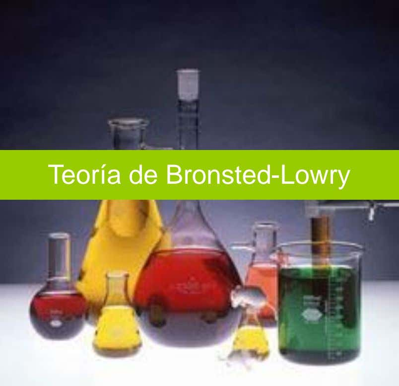 Teoría de Bronsted-Lowry