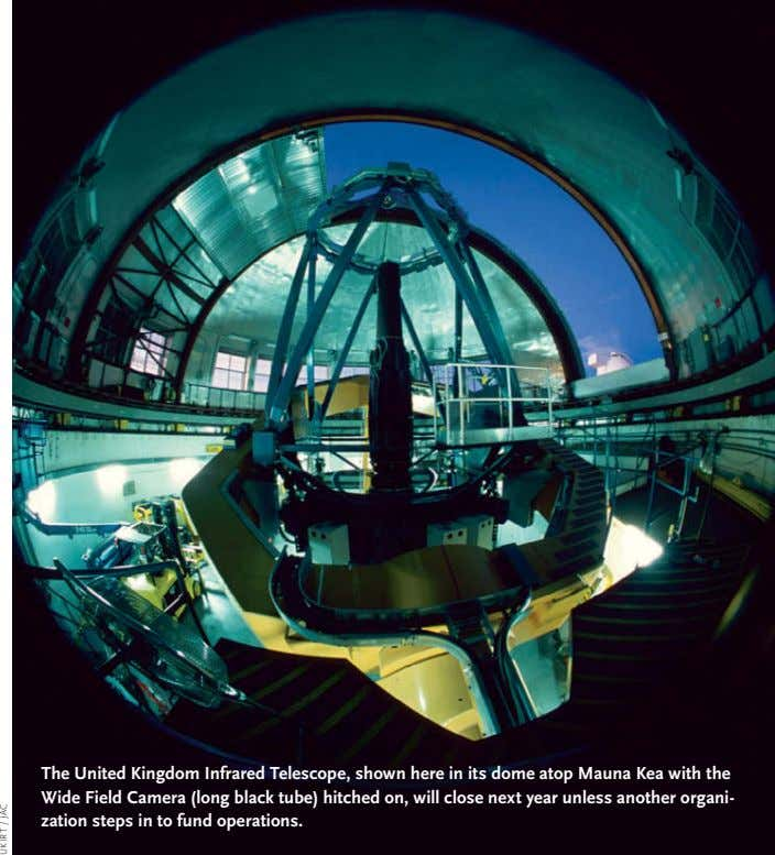 The United Kingdom Infrared Telescope, shown here in its dome atop Mauna Kea with the