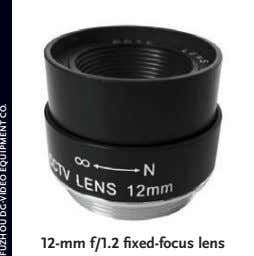 12-mm f/1.2 fixed-focus lens FUZHOU DG-VIDEO EQUIPMENT CO.