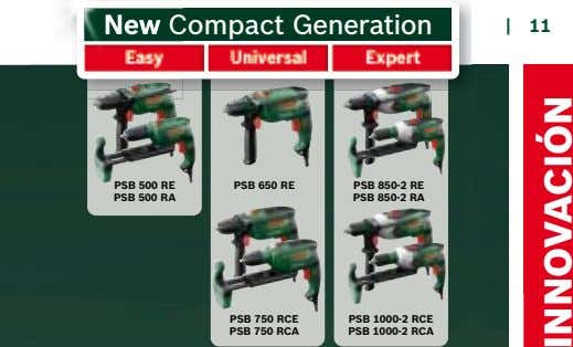 New Compact Generation New C | 11 v r t PSB 500 RE PSB 500 RA