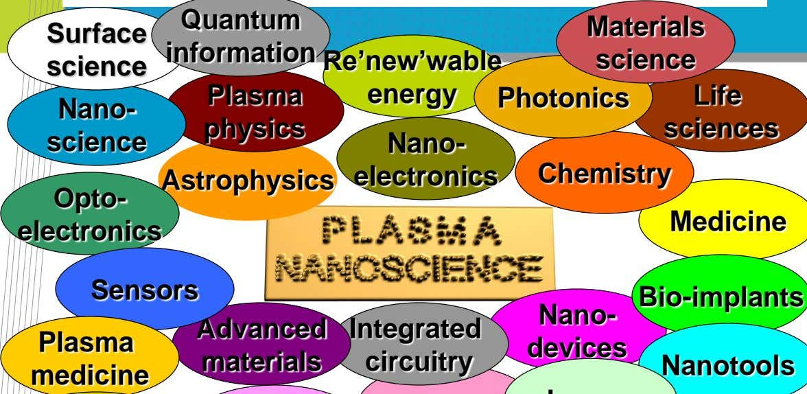 "Materials Re""new""wable science energy Photonics Life sciences Nano- Chemistry Astrophysics electronics"