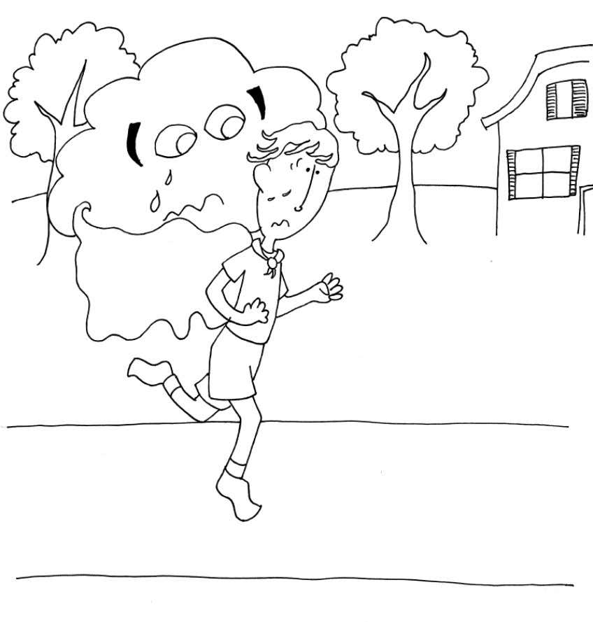Moe ran… and ran… and ran. Moe ran so fast and so hard he could