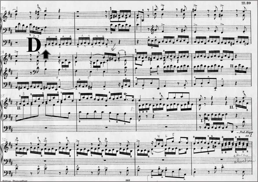 sudden changes in tempo and dynamics (measure 1- 19). Figure 3: Johann Sebastian Bach (1685-1750): Fuga