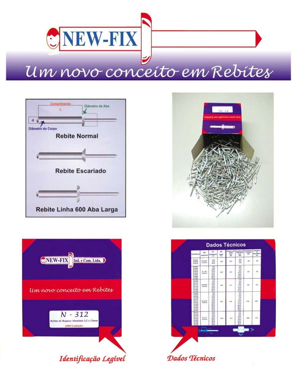 Display de Rebites de Repuxo