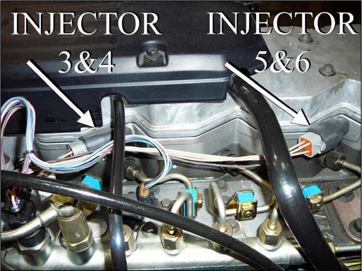 the 3&4 injector connector. This connector is keyed to insert only one way into the sensor.