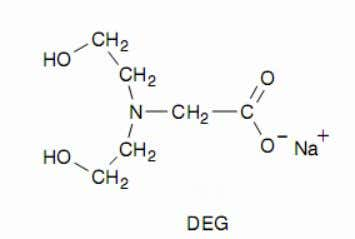 aminopolycarboxylate  N-(hydroxyethyl) ethylenediamine triacetic acid (HEDTA)  N,N-bis(hydroxyethyl) glycine (DEG)