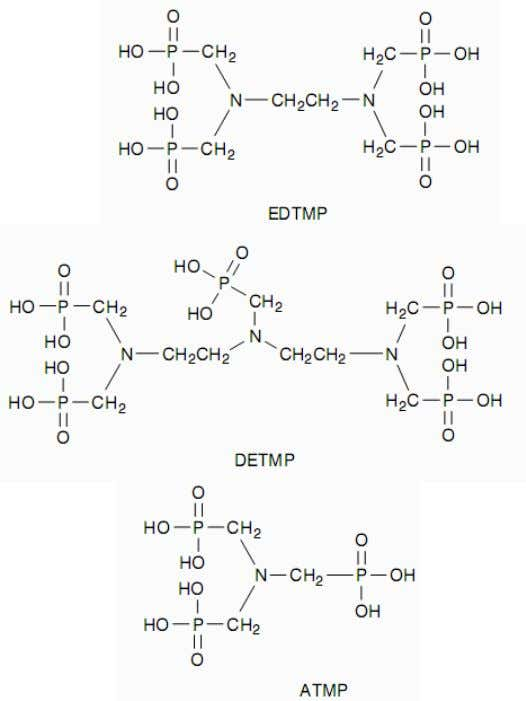 Organic phosphonate :  Ethylenediaminetetra methylphosphonic acid (EDTMP)  Diethylenetriaminepe