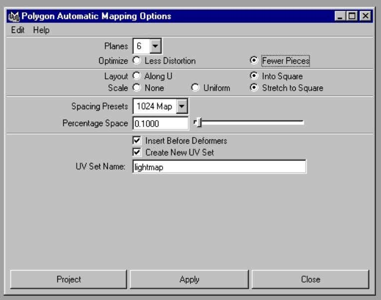 > Automatic Map – options and set the following: Polygon Automatic Mapping Options You will notice