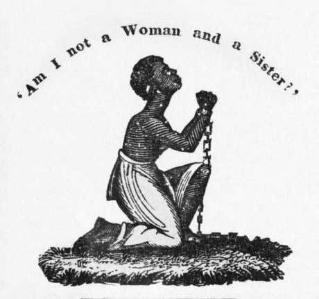 This antislavery image accompanied a poem in the abolitionist newspaper The Liberator , published in